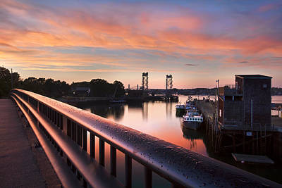Harbor Sunset Print by Eric Gendron
