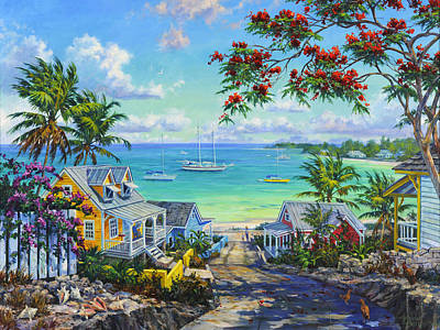 Waterscape Painting - Harbor View by Kevin Hutchinson