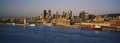 Montreal Buildings Photograph - Harbor With The City Skyline, Montreal by Panoramic Images