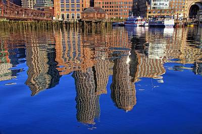 Harborside Reflections Print by Joann Vitali
