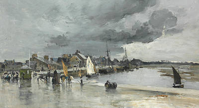 Harbour At St. Vaast The Hague Print by Frank Myers Boggs
