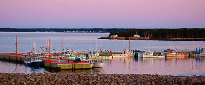 Harbour Sunset Print by Ron Haist