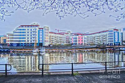 Harbourside Flats Print by Brian Roscorla