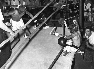 Boys Boxing Photograph - Hard Punch by Retro Images Archive