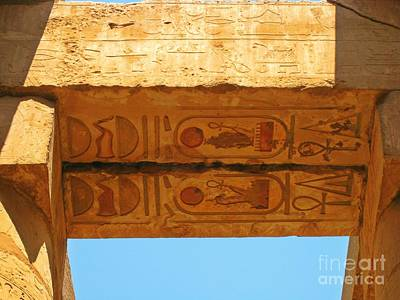 Carving In Stone Photograph - Hardly Faded Hieroglyphics by John Malone