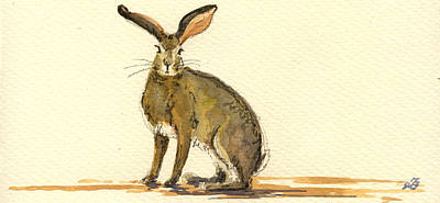 Hare Painting - Hare  by Juan  Bosco