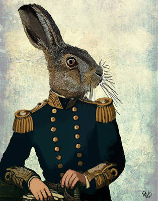 Hare Lieutenant Hare Print by Kelly McLaughlan