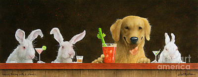 Bloody Mary Painting - Hare Of The Dog With A Young Blonde... by Will Bullas