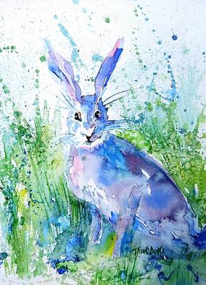 March Hare Painting - Hare Stare by Trudi Doyle