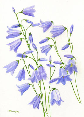 Harebells Original by Sharon Freeman