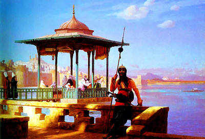 Harem In The Kiosk The Guardian Of The Seraglio 1870 Print by Jean Leon Gerome