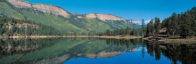 Hariland Lake & Hermosa Cliffs Durango Print by Panoramic Images
