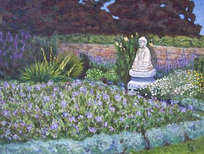 Buddhist Painting - Harkness Memorial Park Buddha Garden Waterford Ct by Patty Kay Hall