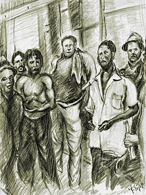 Harlem Drawing - Harlem Guys - New York Art by Art America Online Gallery
