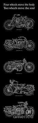 Harley Davidson - 1907 To 1921 Print by Pablo Franchi