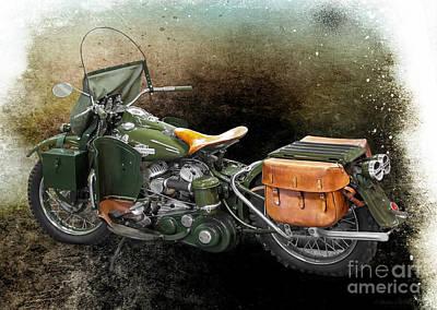 Harley Davidson 1942 Experimental Army Print by Barbara McMahon