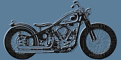 Harley-davidson And Words Original by Tony Rubino