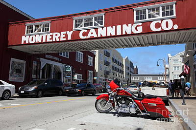 Harley Davidson At Monterey Cannery Row California 5d25024 Print by Wingsdomain Art and Photography