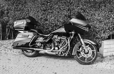 Black_white Photograph - Harley Davidson Bike by Mohamed Elkhamisy