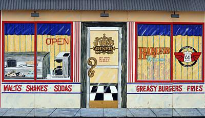 Mural Photograph - Harley Davidson Cafe by Fraida Gutovich