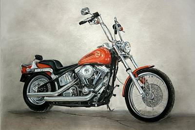 Pastel - Harley Davidson by Heather Gessell