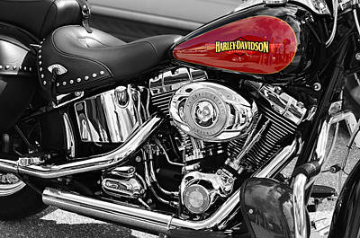 Soft Digital Art - Harley Davidson by Laura Fasulo