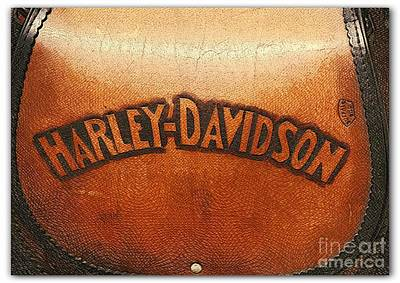 In A Row Photograph - Harley Davidson Leather Tool Bag  by Stefano Senise