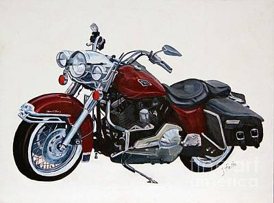 Painting - Harley Road King by Janet Felts