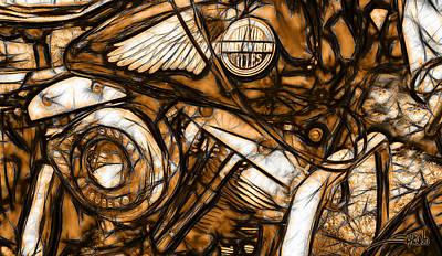 Michael Spano Painting - Harley Shovelhead by Michael Spano