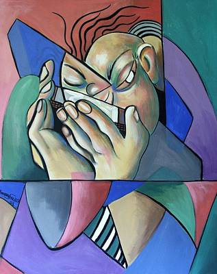 Harmonica Painting - Harmonia Man by Anthony Falbo