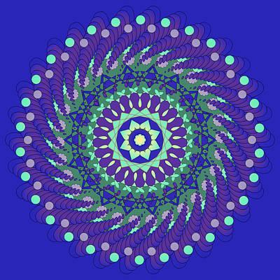 Fine Art Digital Art - Harmonic Trance Mandala by Georgiana Romanovna