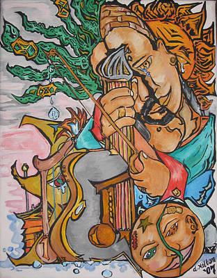 Strange Days Painting - Harmony Of Music by Damon Milton