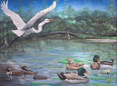 Painting - Harmony On The River by Virginia Bond
