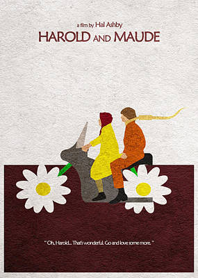Daisies Drawing - Harold And Maude by Ayse Deniz