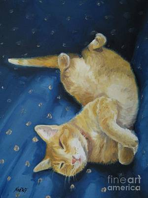 Harold The Orange Cat Original by Jindra Noewi