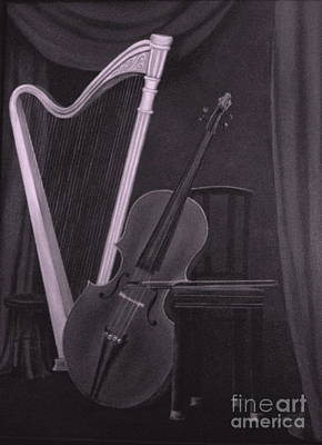 Dlgerring Painting - Harp And Cello- 2 by D L Gerring