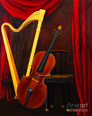 Dlgerring Painting - Harp And Cello by D L Gerring