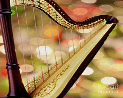 Harp Print by Cheryl Young