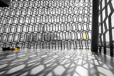 Window Bench Photograph - Harpa Interior by Alexey Stiop