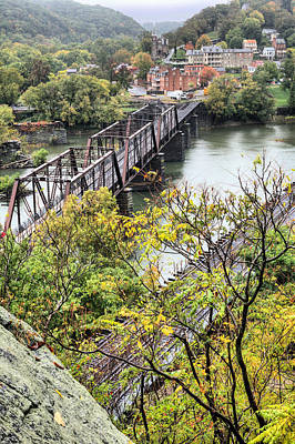 Train Tracks Photograph - Harpers Ferry by JC Findley