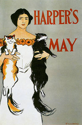 Harpers May Print by Edward Penfield