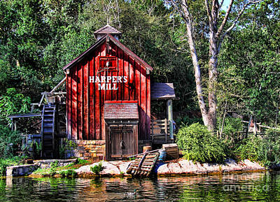 Gone Fishing Photograph - Harper's Mill by Lee Dos Santos