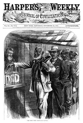 Democratic Painting - Harper's Weekly, 1867 by Granger