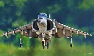 Av-8b Digital Art - Harrier Arises by Dale Jackson
