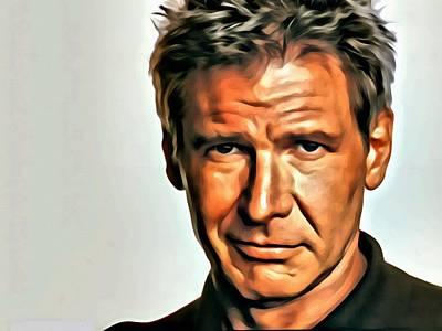 Star Wars Photograph - Harrison Ford by Florian Rodarte