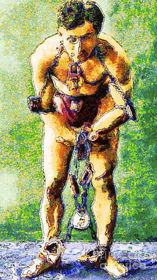 Harry Houdini Inspired By Van Gogh 20140921 Print by Wingsdomain Art and Photography