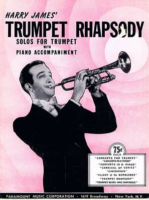 Harry James Photograph - Harry James Trumpet Rhapsody by Mel Thompson