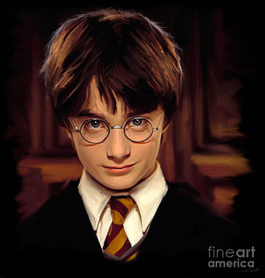 Magician Digital Art - Harry Potter by Paul Tagliamonte