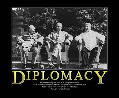 Washington D.c. Photograph - Harry Truman Diplomacy by Retro Images Archive