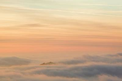 Harter Fell Above The Clouds Print by Ashley Cooper